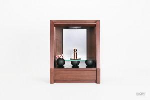 手元供養仏壇 ノーブル 明かりの灯るミニ仏壇