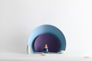 ノンノン仏壇-nonnon サックスパープルとミニ骨壷シンフォニーグランドブルー
