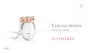 遺骨ペンダント 純チタン×K10ピンクゴールド×ダイヤモンド TI1101CRPG【TAMAGO】