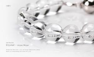 「遺骨を納められる」天然石納骨ブレスレット 念珠タイプ 10mm玉水晶