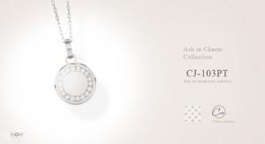 【遺骨ペンダント】プラチナ900×ダイヤモンド アッシュイン・チャーム CJ-103PT 遺骨を納めるジュエリー