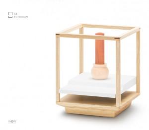 【手元供養・デザインミニ仏壇】A4サイズのお仏壇 「A4仏壇 A4-005WH ホワイト