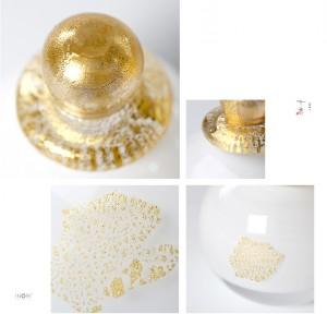 【手元供養・分骨用】アートガラス製骨壷 七音ミニ骨壺シリーズ「ゆきまる」