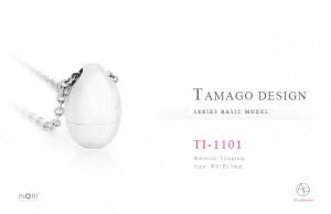 【手元供養・遺骨ペンダント】純チタン製アッシュインペンダント たまご-TAMAGO TI1101