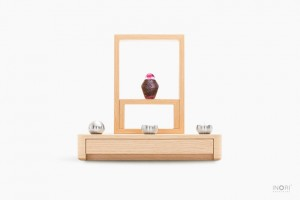 ミニ仏壇-A4仏壇 ミニ骨壷れんげ