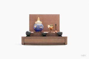 手元供養仏壇-ミニ骨壷とミニ仏壇