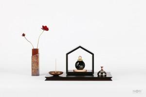 INORI-OUCHI(いのりのおうち)15 ウェンジ/七音-ガラス骨壺すみまる