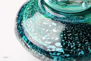 ミニ骨壷もえぎ 手元供養ガラス骨壺