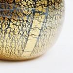 手元供養ミニ骨壷-ミヤビブラック。ハンドメイドのガラス製骨壺