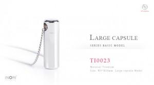 遺骨ペンダント「チタンTI0023」大容量カプセル