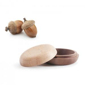 持ち運べる小さな木のお骨壷 iroha いろは [無垢仕上げ] 納骨部分がネジ式でしっかりと閉まる構造のお骨壺・形見入れ