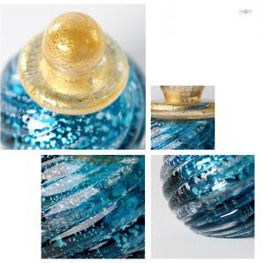 「手元供養用」アートガラス製骨壷 七音:ななおと ミニシリーズ「みなも」拡大イメージ
