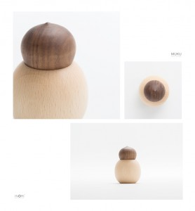【分骨用木のミニ骨壷】やさしい骨壷「つみき tumi-ki」ウォールナット