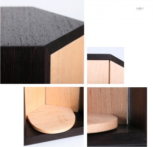 手元供養用のデザインミニ仏壇・小さな仏壇厨子「ありか ARIKA - ウェンジ/メープル」