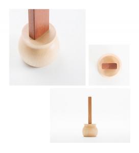 ミニ仏壇・手元供養用デザイン位牌「やさしい位牌」天然木 ブナ×カリン 3.5寸