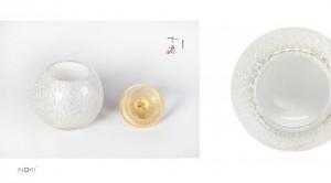 【手元供養・分骨用】アートガラス製ミニ骨壷 七音シリーズ「奏音:かなおと SSサイズ」