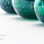 【手元供養・分骨用ミニ骨壷】七音アートガラス骨壺 - 翠音[すいおん]Sサイズ