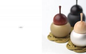 【手元供養・ミニ仏壇に】[仏具・具足・おりん]デザイン仏具のpear(ペアりん)ブラック