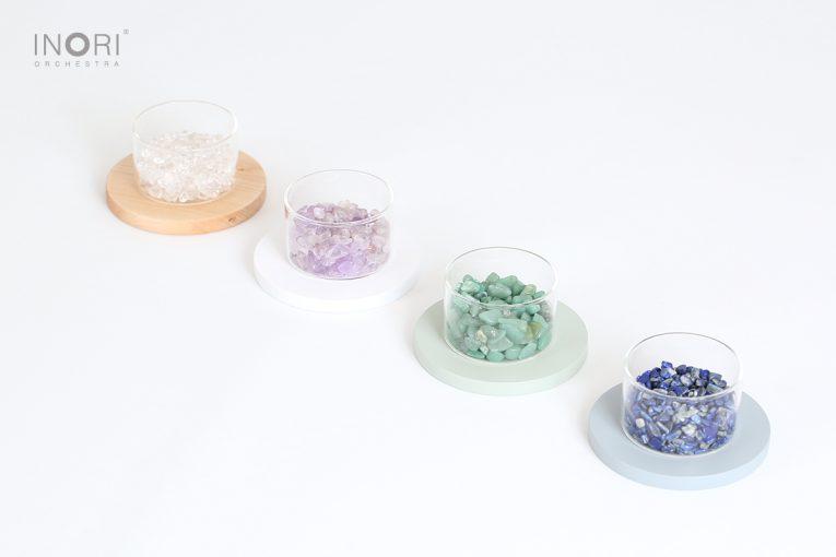 シンプルなガラスのお香立て08_天然石ラインナップ
