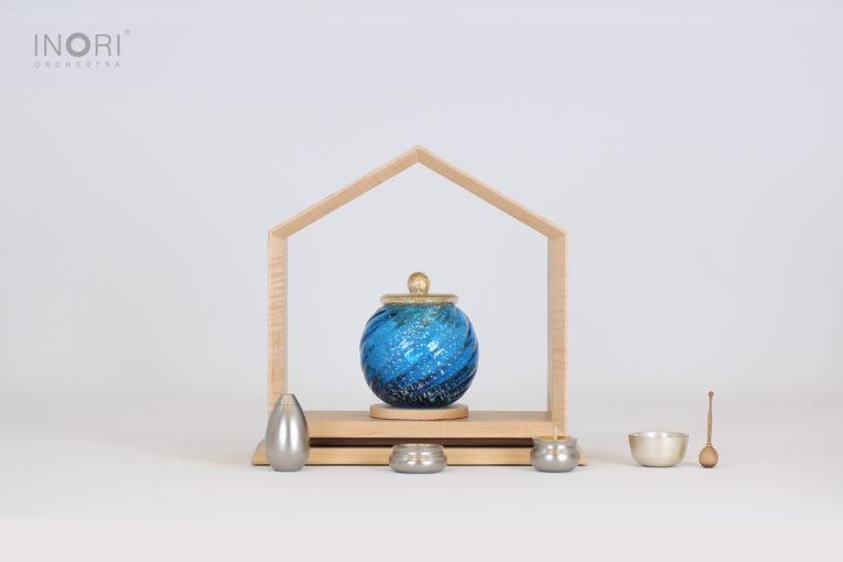いのりのおうちとミニ骨壷の組み合わせ例