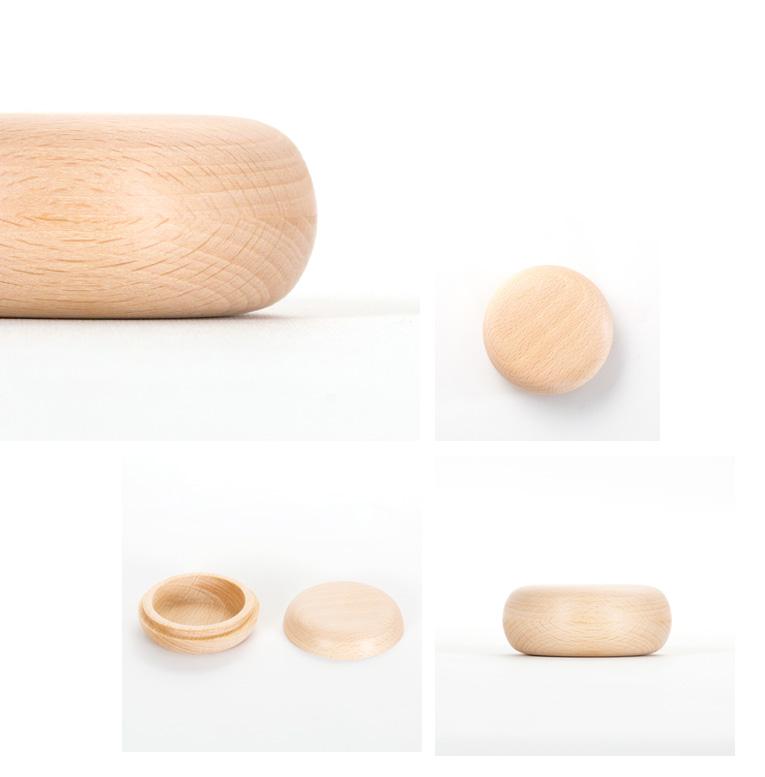 木製のミニ骨壷